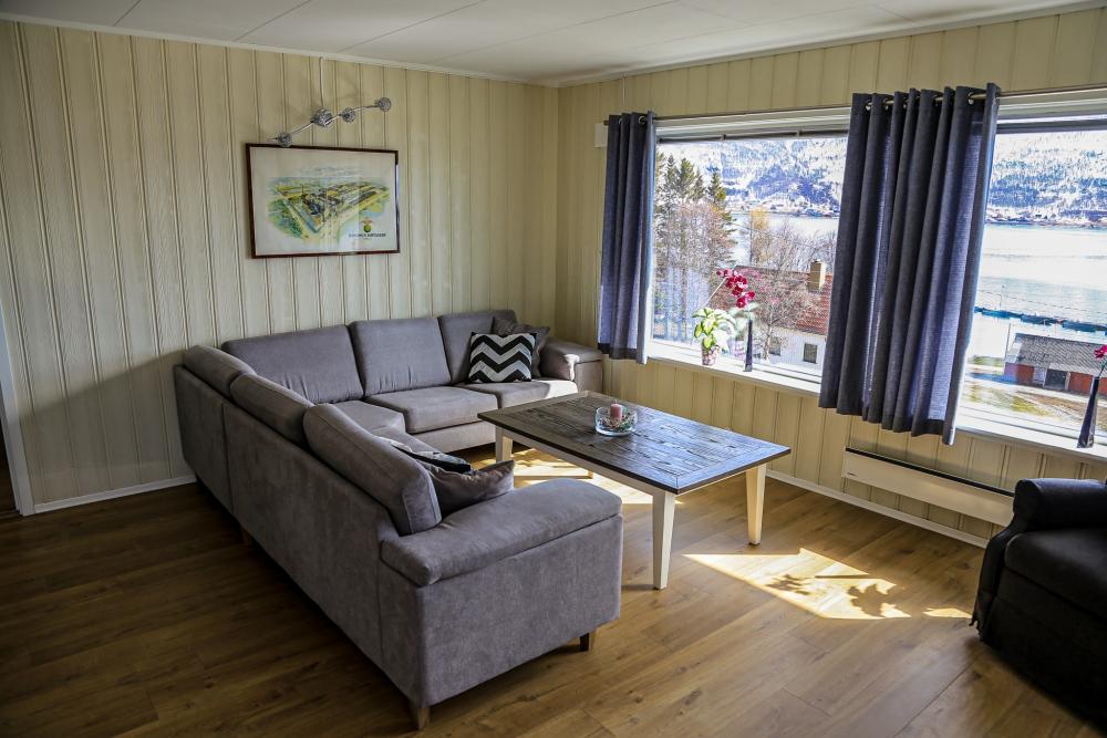 Stue i Per Arne huset, feriehus i Nordreisa / Lyngen
